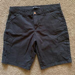 Lee Midrise Black Bermuda Shorts